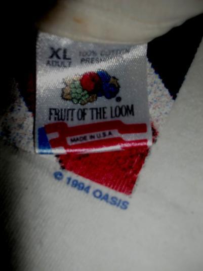 OASIS DEMO TAPE LOGO 1994 AMERICAN TOUR T-SHIRT