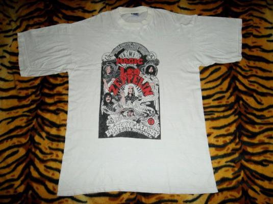 Vintage 1980s Led Zeppelin Electric Magic Concert T-shirt