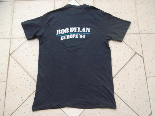 VINTAGE BOB DYLAN 1984 1980s PROMO EUROPE TOUR T-SHIRT