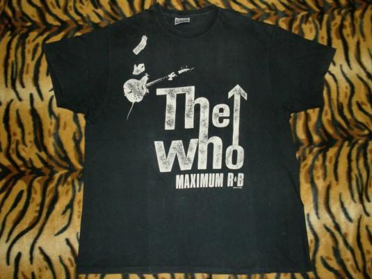 The Who 1989 The Kids Are Alright Pete Townshend T-shirt