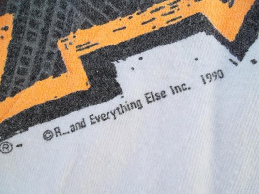 Vintage Rusty 1990 Skate Surf Design T-shirt