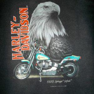 Harley Davidson 3D Emblem 50/50 Soft Thin T-shirt