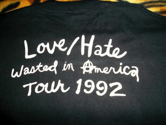 VINTAGE LOVE/HATE 1992 PROMO TOUR T-SHIRT