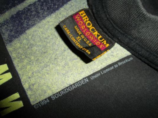SOUNDGARDEN Superunknown 1994 Glow in the dark T-shirt