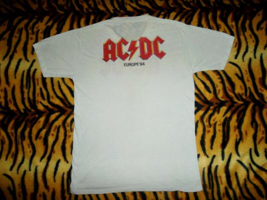 VINTAGE 1984 AC/DC EUROPE TOUR FLICK OF THE SWITCH T-SHIRT