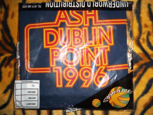 VINTAGE ASH 1996 DUBLIN POINT PROMO TOUR T-SHIRT