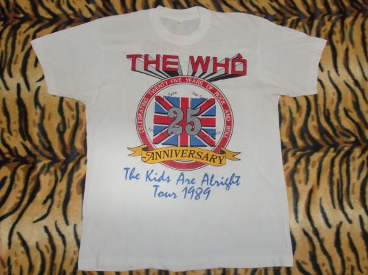 The Who 1989 25 years anniversary T-shirt