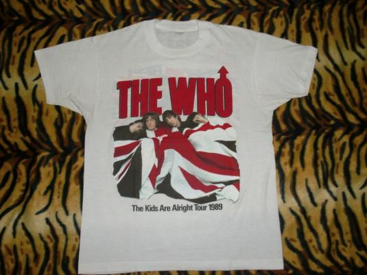 The Who 1989 The Kids Are Alright Tour T-shirt