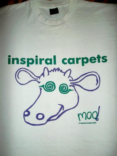 INSPIRAL CARPETS 1990 MOO PROMO ALBUM T-SHIRT