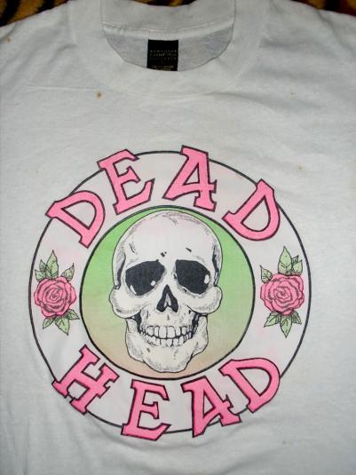 GRATEFUL DEAD 80'S DEAD HEAD T-SHIRT