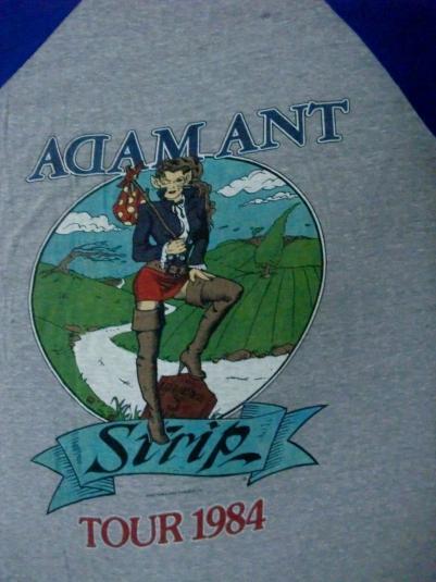ADAM ANT STRIP TOUR 1984 JERSEY T-SHIRT