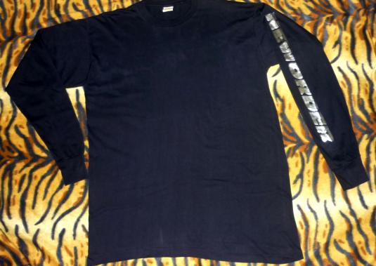 VINTAGE NEW ORDER EARLY 90s LONG SLEEVE T-SHIRT