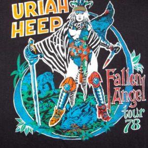 VINTAGE URIAH HEEP 1978 FALLEN ANGEL TOUR T-SHIRT