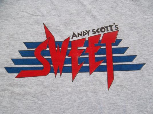 Vintage 1980s Andy Scott The Sweet Promo tour T-shirt