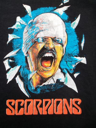 VINTAGE SCORPIONS 1982 BLACK OUT PROMO TOUR ROCK T-SHIRT