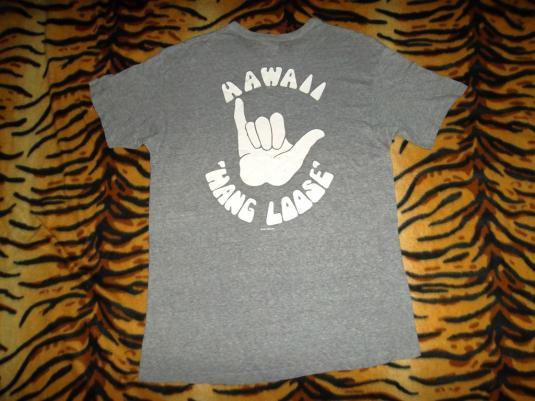 Hawaii Hang Loose 1980s Soft Paper Thin