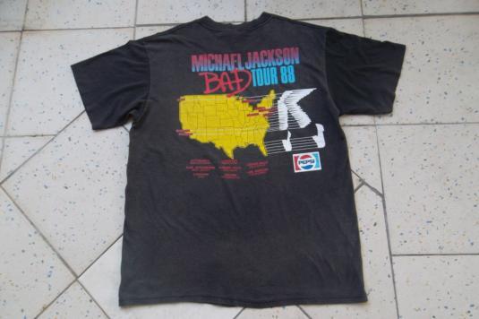 Vintage Michael Jackson Bad Tour 1988 T-shirt