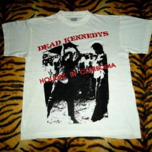 VINTAGE DEAD KENNEDYS HOLIDAY IN CAMBODIA 80s T-SHIRT