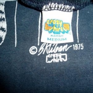 VINTAGE B.KLIBAN HAWAII CRAZY SHIRTS 1975 T-SHIRT