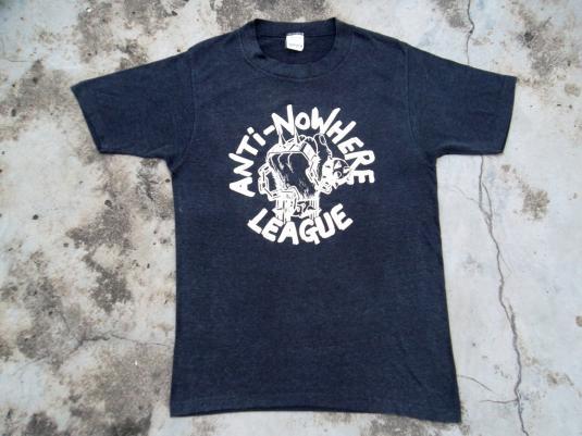 VINTAGE ANTI NOWHERE LEAGUE 1980 PROMO TOUR PUNK T-SHIRT