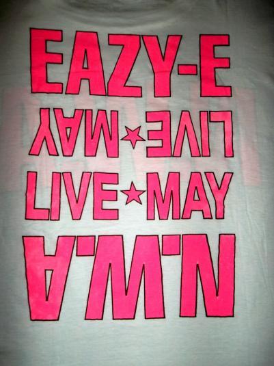 RARE N.W.A EAZY E LIVE MAY 1988 CONCERT TOUR T-SHIRT NWA