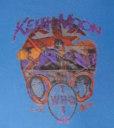 VINTAGE TRIBUTE TO KEITH MOON THE WHO T-SHIRT