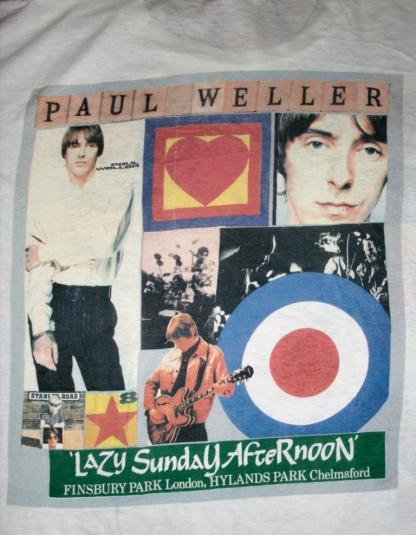 PAUL WELLER STANLEY ROAD 1995 FINSBURY PARK CONCERT T-SHIRT
