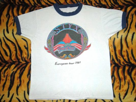 STYX 1981 European Tour T-shirt