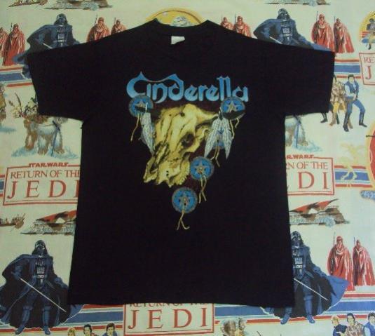 Vintage 1988-89 CINDERELLA Long cold winter Tour T-Shirt