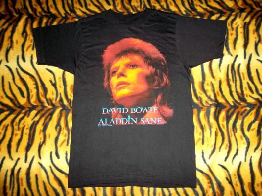 VVINTAGE DAVID BOWIE ALADDIN SANE SOUND I VISION T-SHIRT