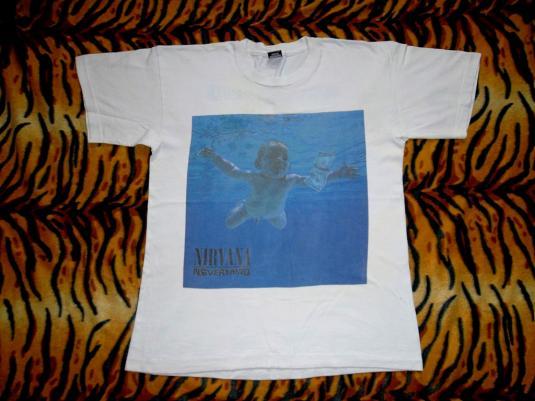 VINTAGE NIRVANA 1991 'NEVERMIND' SCREEN STARS T-SHIRTS