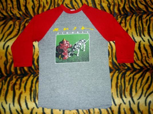 Rush Tour 1982 -1983 Raglan Jersey T-shirt Rayon