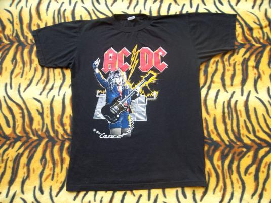 VINTAGE AC/DC 1980s PROMO TOUR ROCK T-SHIRT