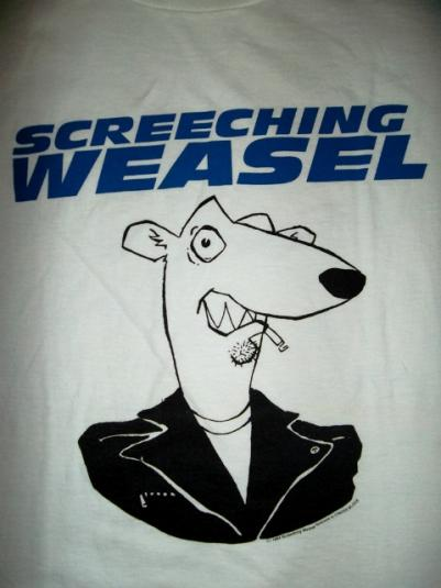 VINTAGE SCREECHING WEASEL 1994 PROMO T-SHIRT