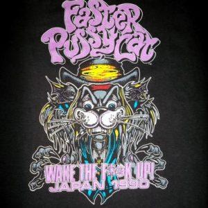 Faster Pussycat 1990 Japan Concert Tour T-shirt Rare