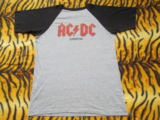 VINTAGE AC/DC 1984 EUROPEAN TOUR PROMO ROCK T-SHIRT