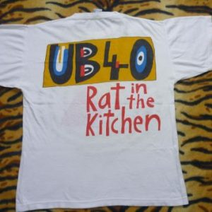 UB40 1986 RAT IN THE KITCHEN PROMO T-SHIRT