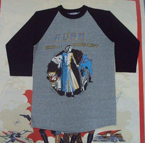 Vintage 1981 RUSH Exit Stage Left Tour Jersey