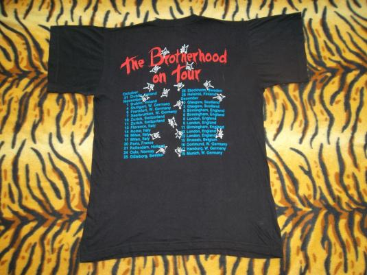 VINTAGE BON JOVI 1988 THE BROTHERHOOD ON TOUR T-SHIRT