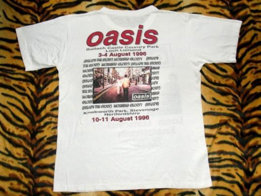 OASIS LOCH LOMOND KNEBWORTH 1996 CONCERT TOUR T-SHIRT