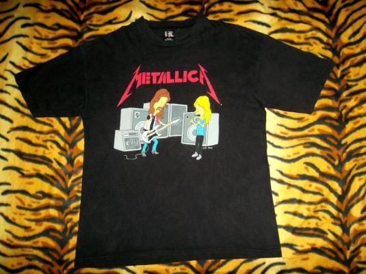 Vintage Beavis And Butthead Metallica 1990s T-shirt MTV