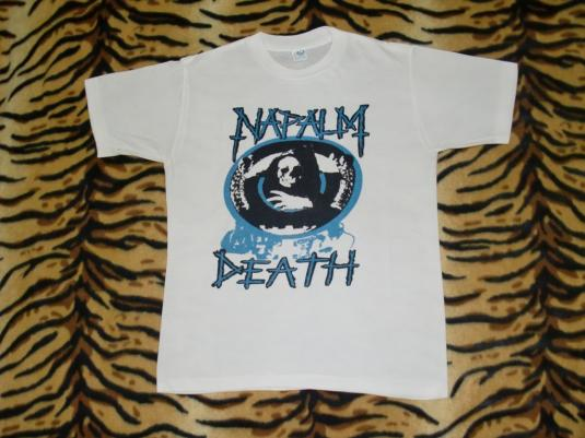 VINTAGE RARE NAPALM DEATH 80'S T-SHIRT
