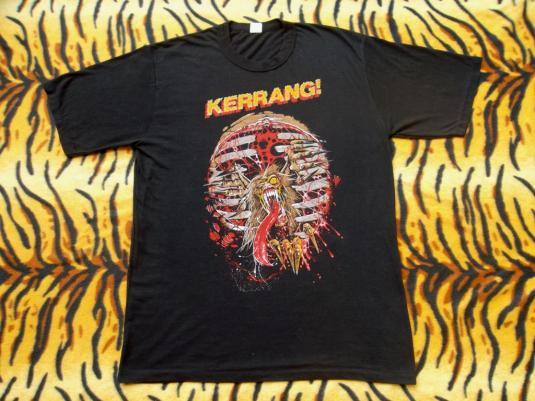VINTAGE 1980s KERRANG! METAL MAGAZINE T-SHIRT