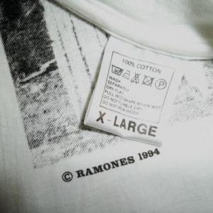RAMONES 20th ANNIVERSARY 1994 T-SHIRT RARE MISPRINT