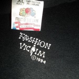 VINTAGE FASHION VICTIM 1994 PUNK T-SHIRT