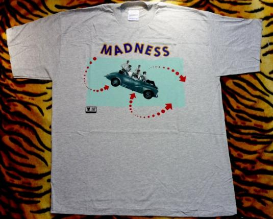 MADNESS EARLY 90s DRIVING IN MY CAR PROMO T-SHIRT