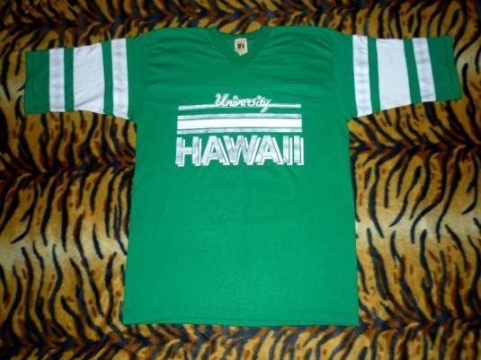 VintageLogo 7 University Hawaii 80's 50/50 Raglan T-shirt