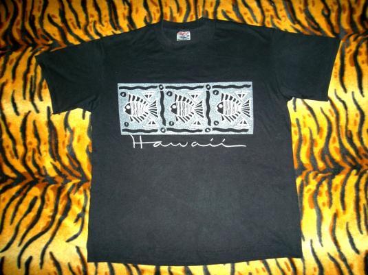 Hawaii 80s Surf Poly/cotton T-Shirt