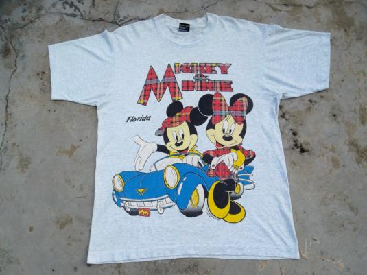 Vintage Mickey & Minnie Mouse Florida Disney T-shirt