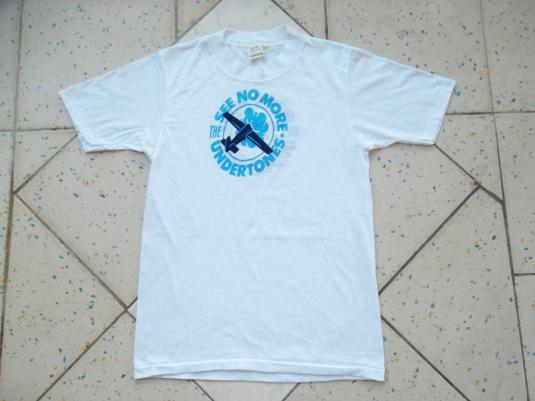 VINTAGE THE UNDERTONES 1980 SEE NO MORE T-SHIRT